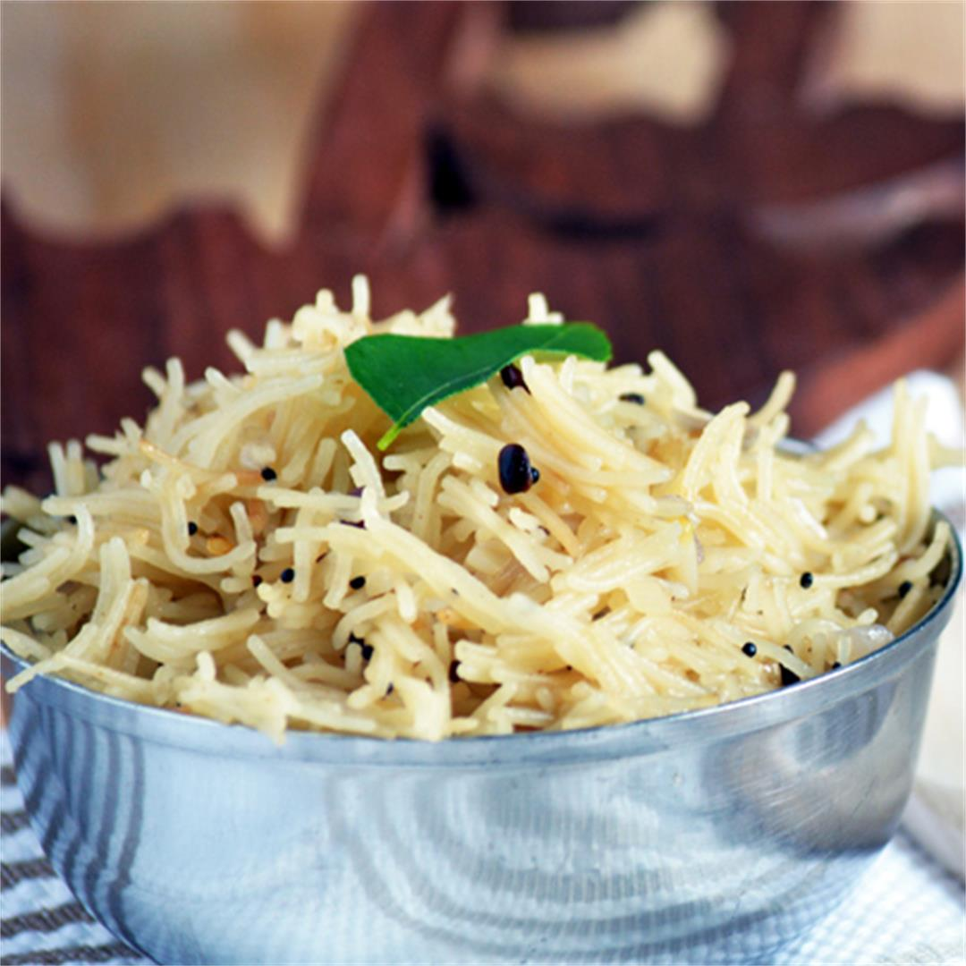 Vermicelli upma, easy South Indian breakfast
