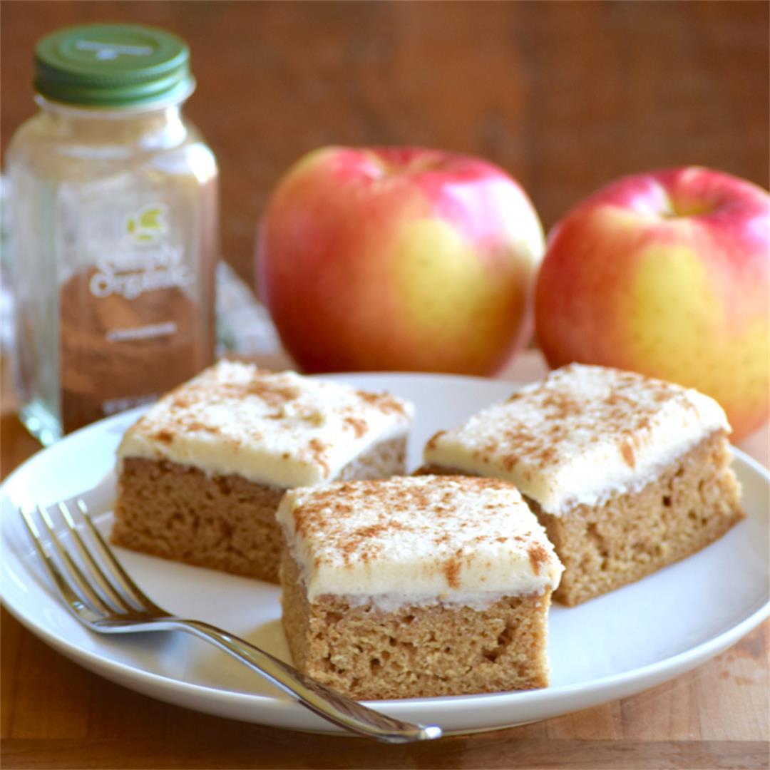 One Bowl Gluten-Free Applesauce Spice Bars