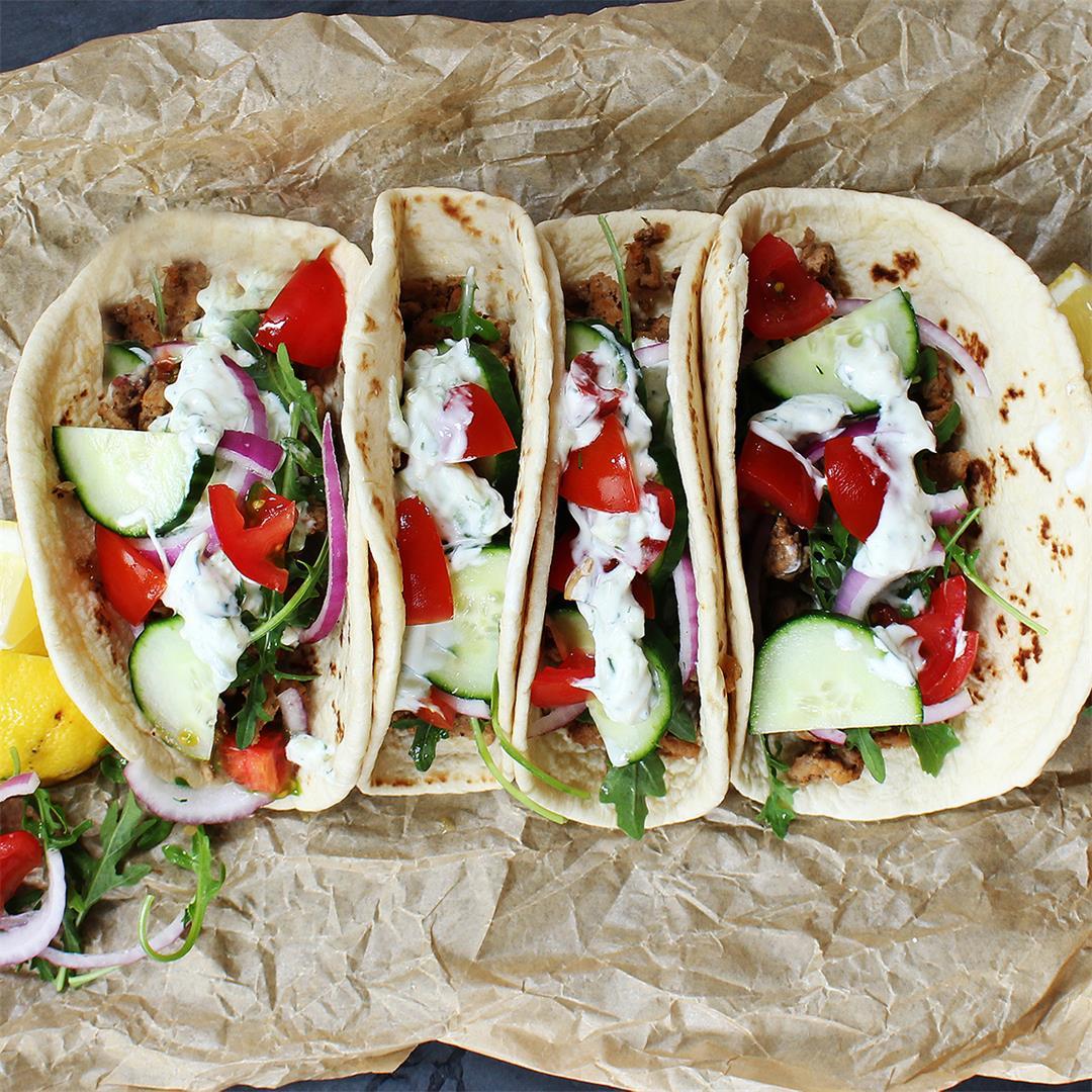 Mediterranean Turkey Tacos