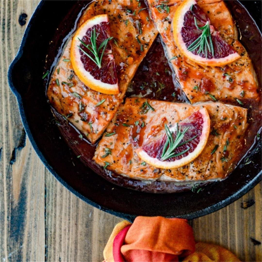 Pan Seared Salmon in Orange Sauce