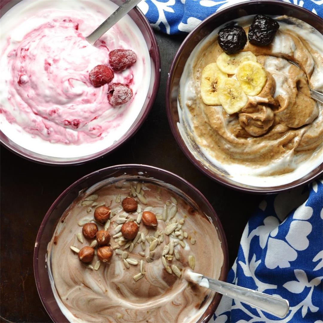 How to Make Flavoured Yogurt 3 Ways (Mocha, Raspberry, Prune)