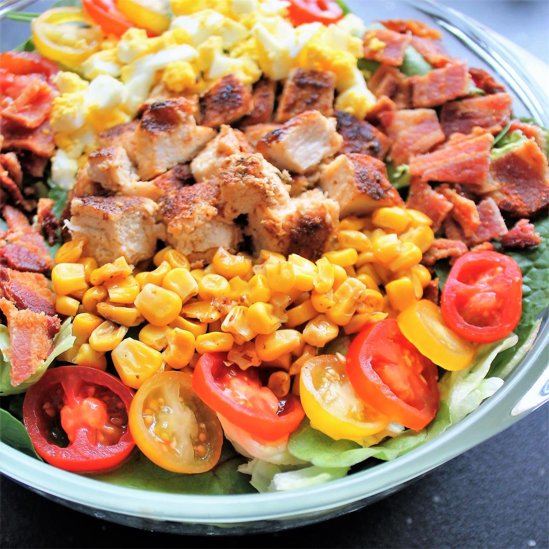 Cobb Salad with Honey-Mustard Ranch Dressing