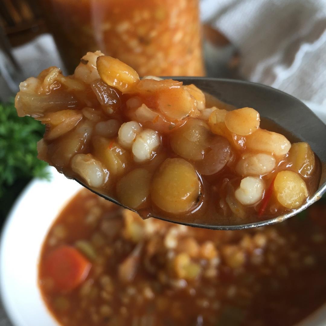 BEEFY Lentil Barley Soup-Warm, Comforting, 100% VEGAN