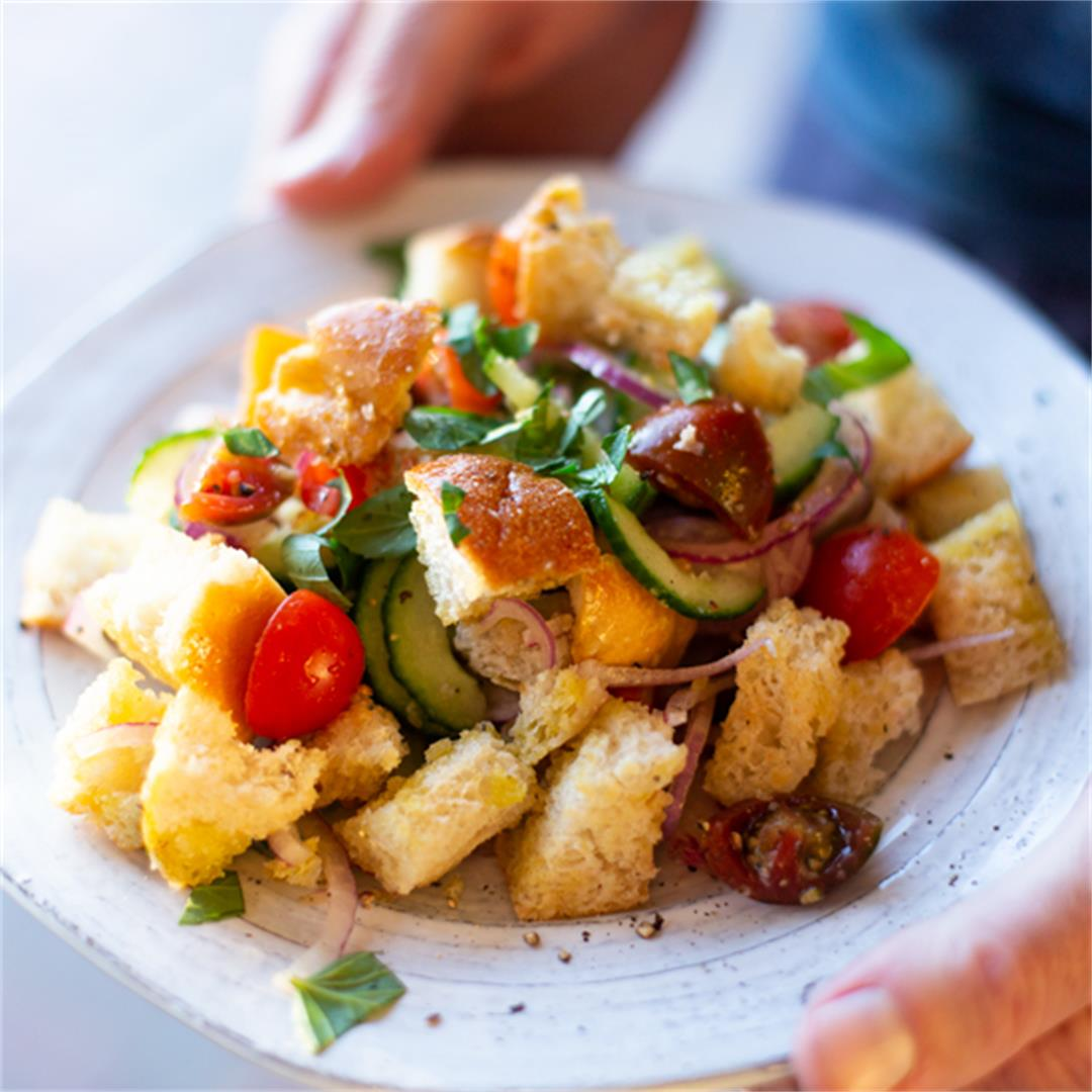 Panzanella is a quick and easy to make bread salad!