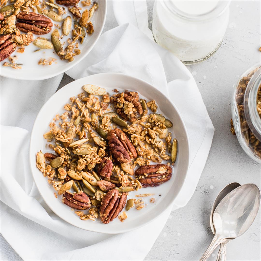 Maple Quinoa Harvest Granola Cereal