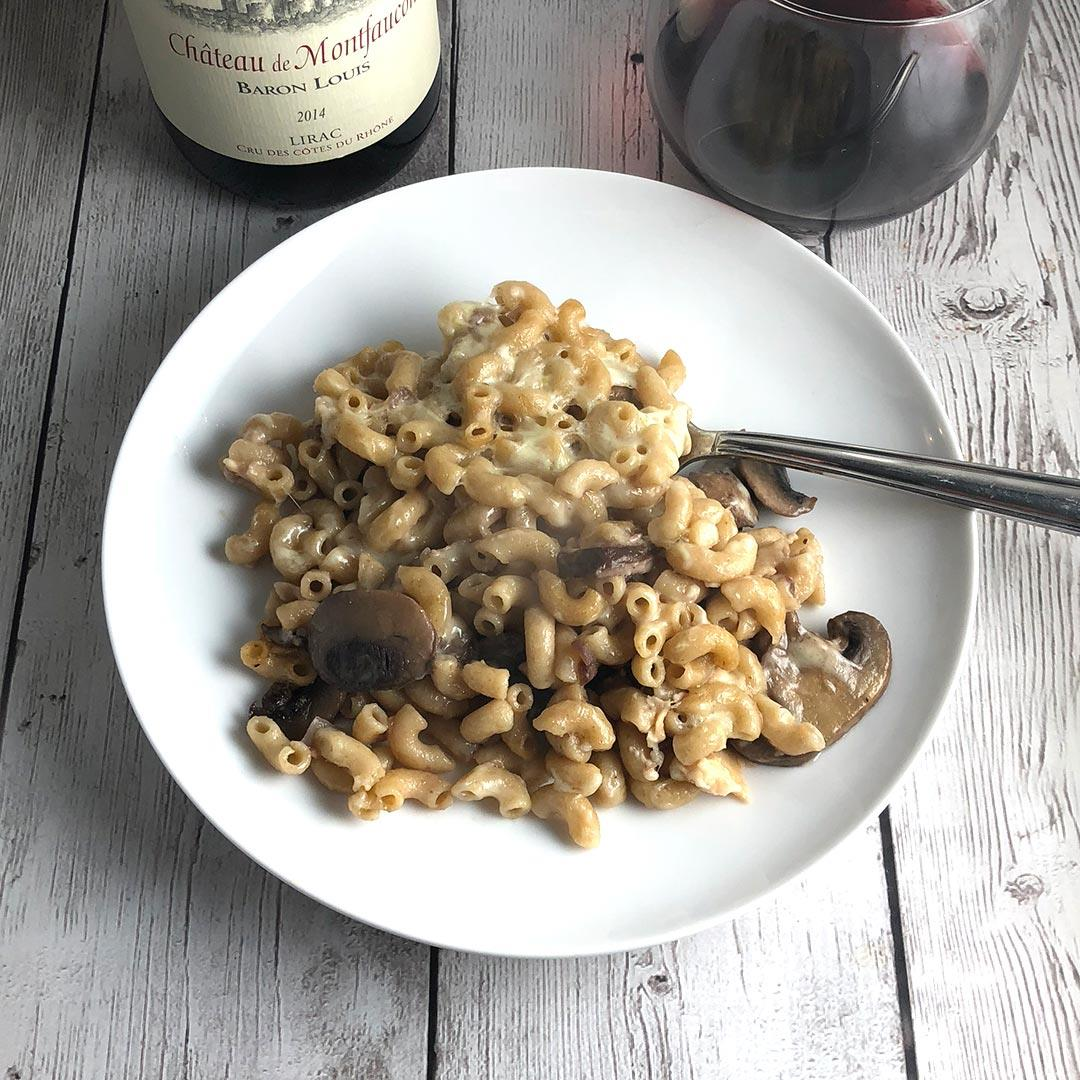 Mushroom Mac and Cheese Casserole