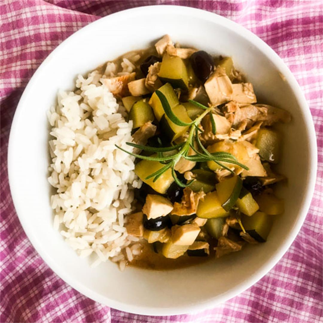 Quick Chicken Stew with Lemon & Rosemary