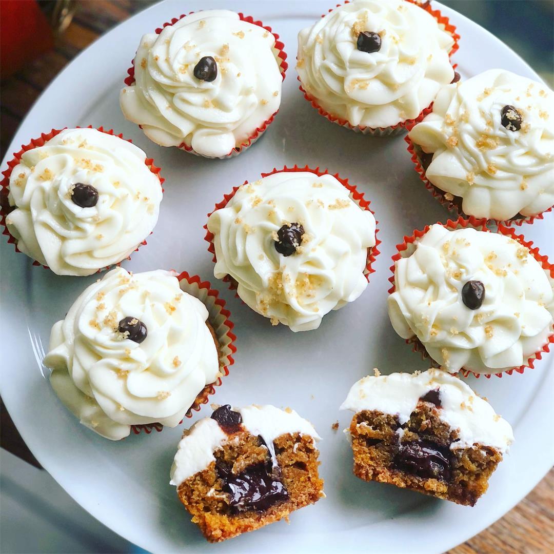 Sweet Potato S'mores Cupcakes