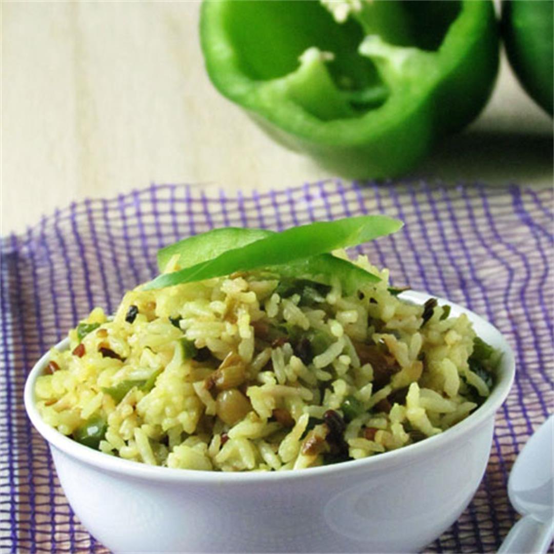 Bell pepper rice / capsicum rice