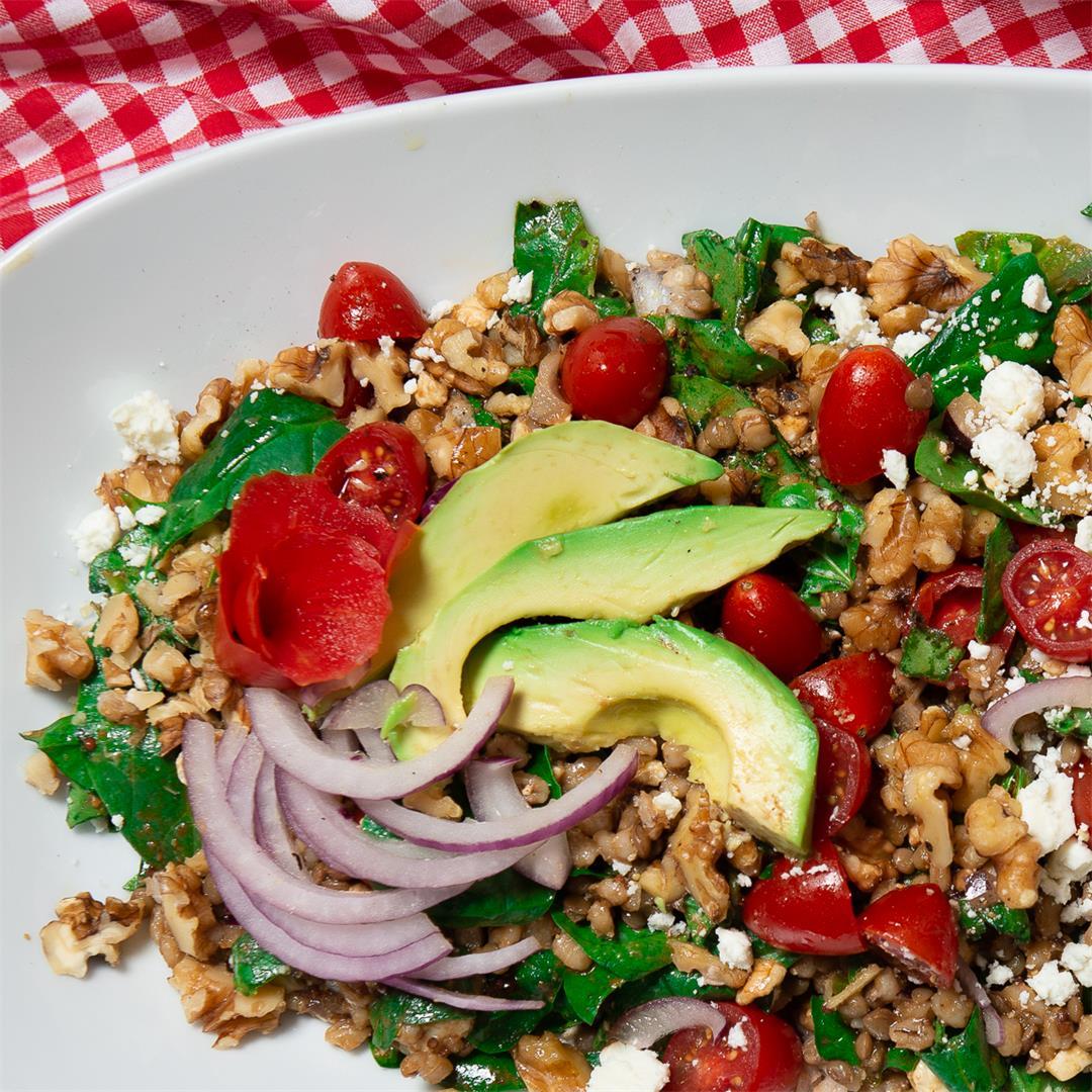 Barley And Lentil Salad With Feta