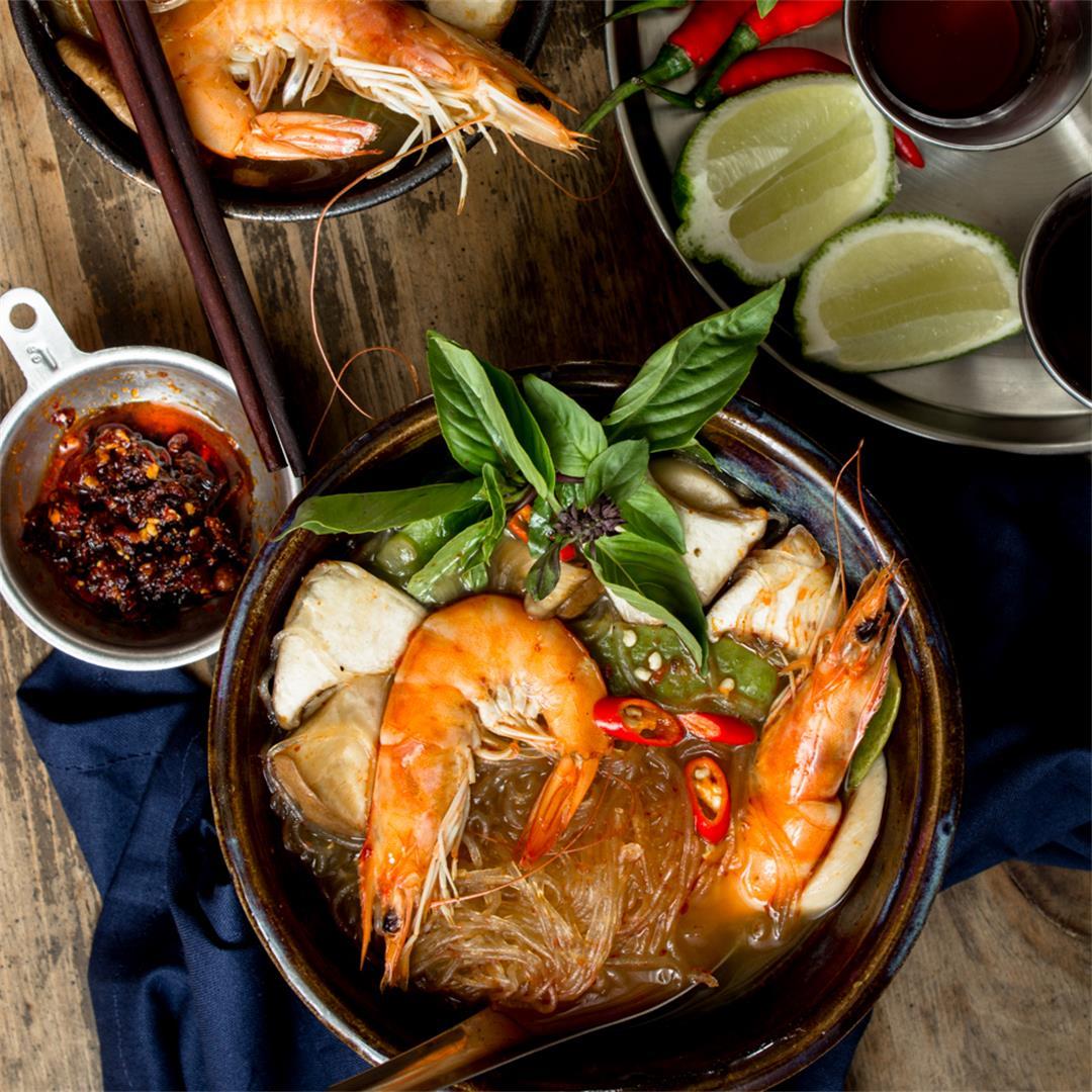 Tom Yum Goong (Thai Hot & Sour Soup)