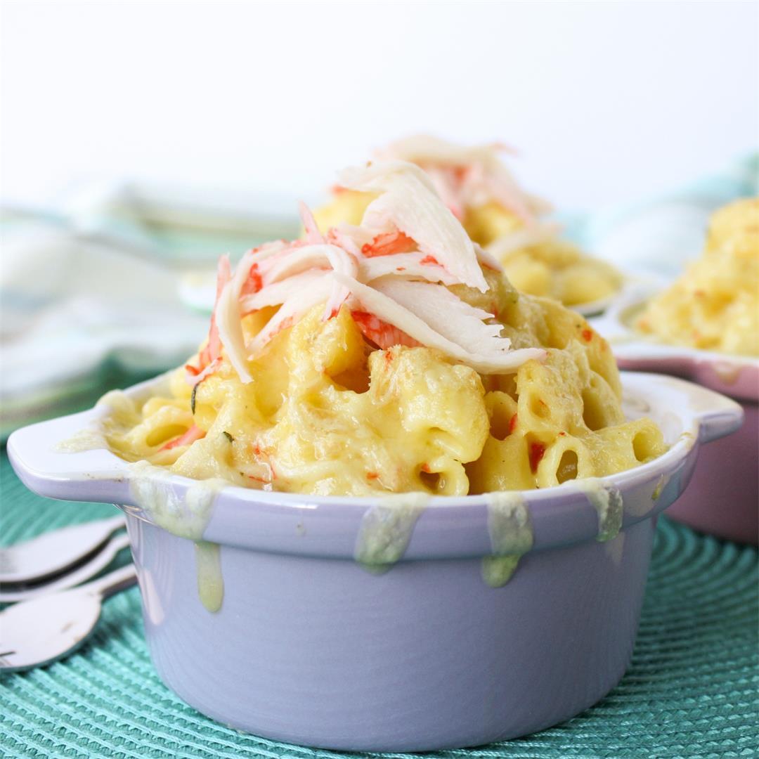 Crab mac n cheese