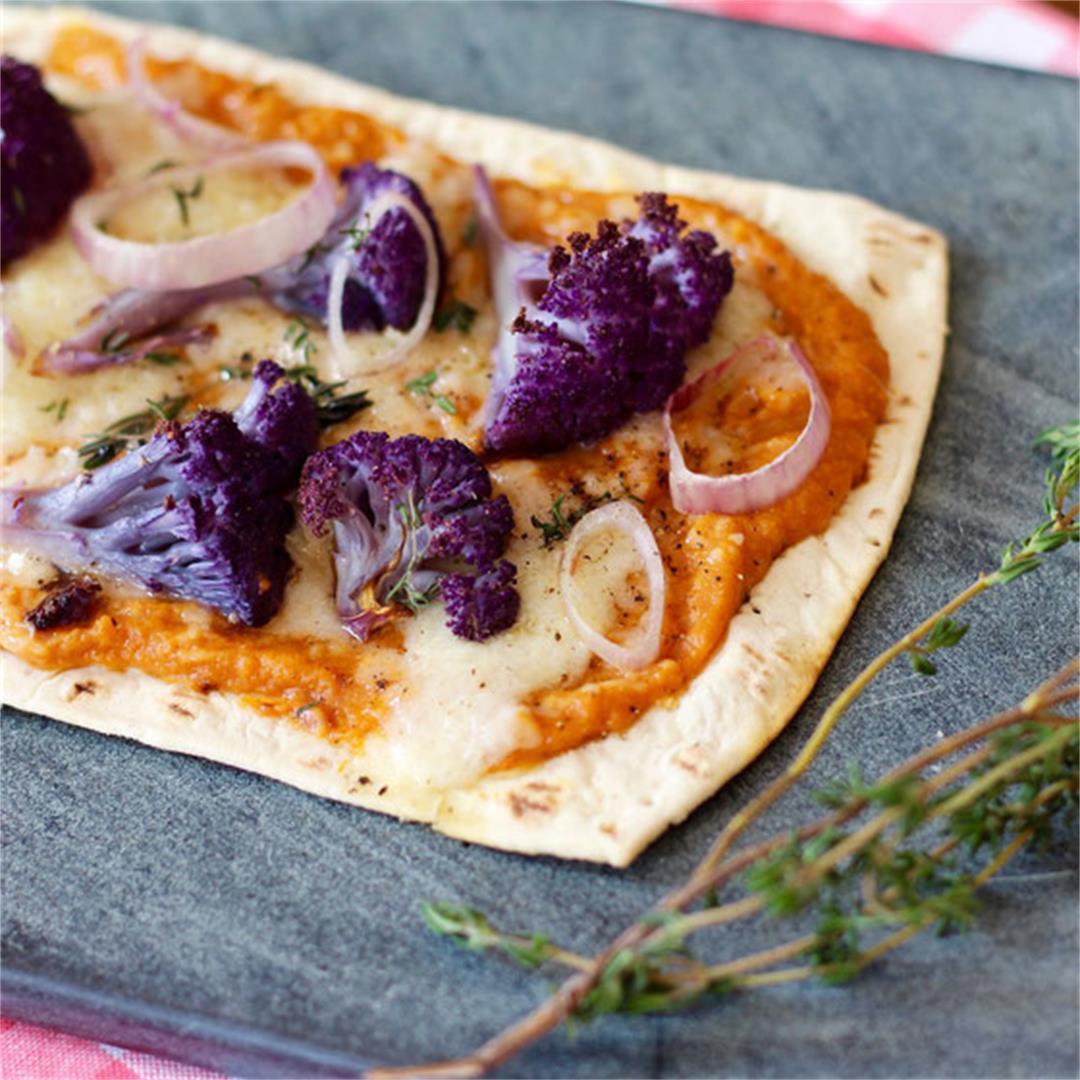 Flatout Sweet Potato Cauliflower Pizza