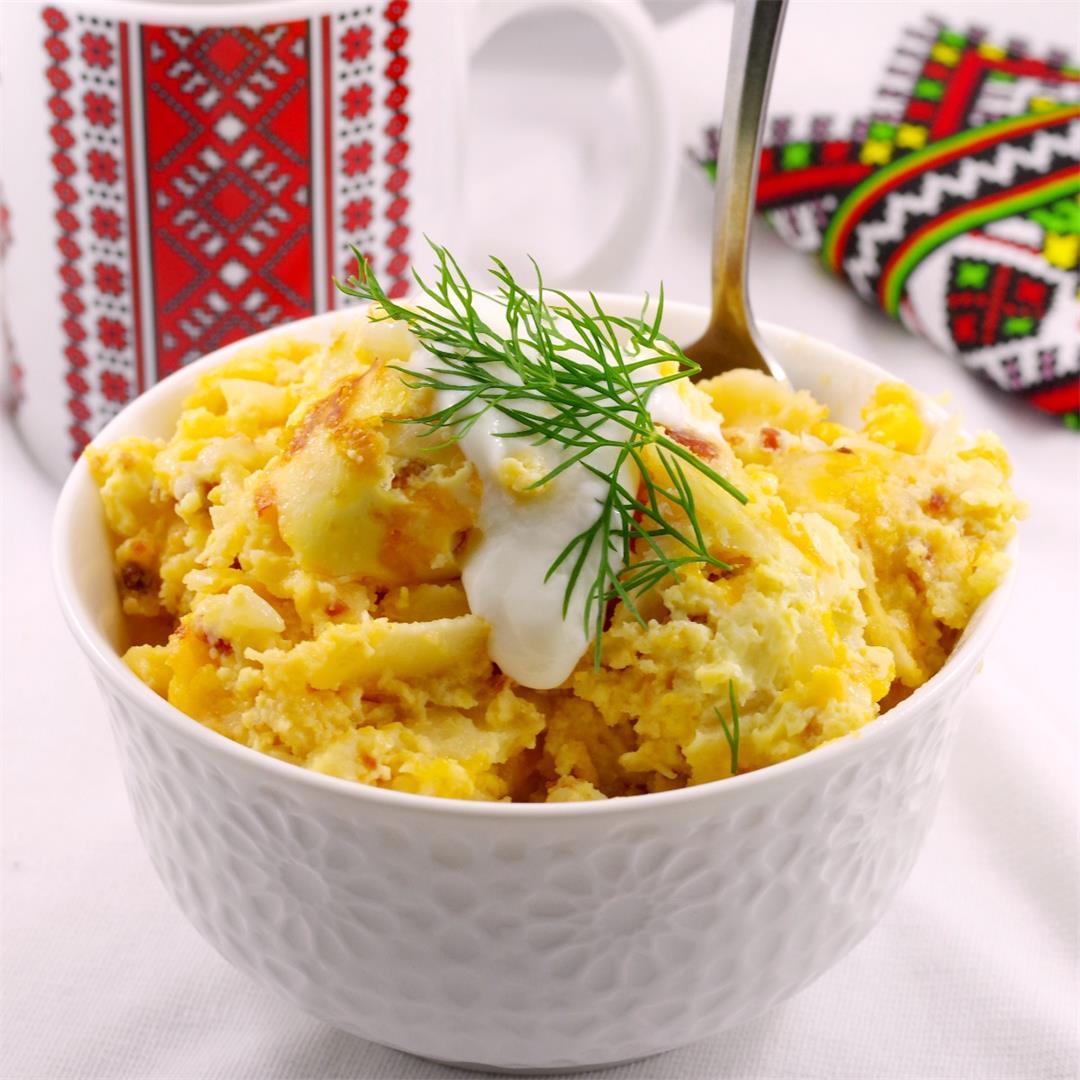 Pierogi Breakfast Casserole