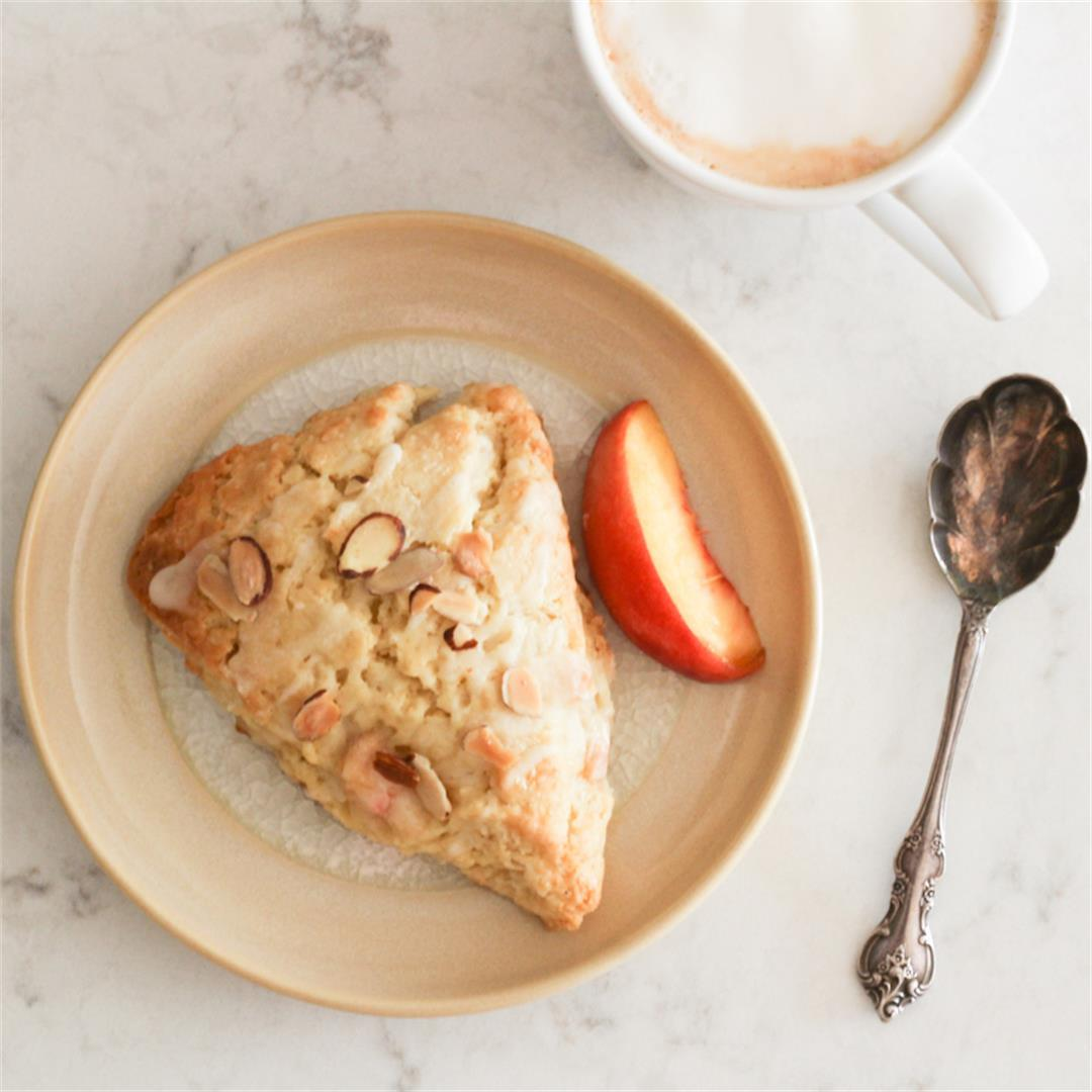 Almond Peach Scones