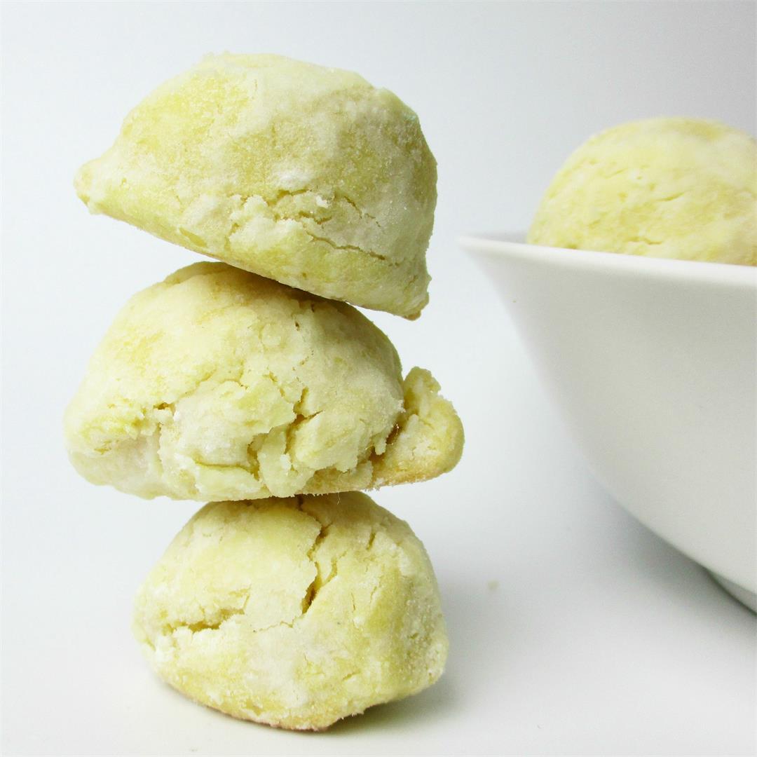 No Spread Lemon Sugar Cookies