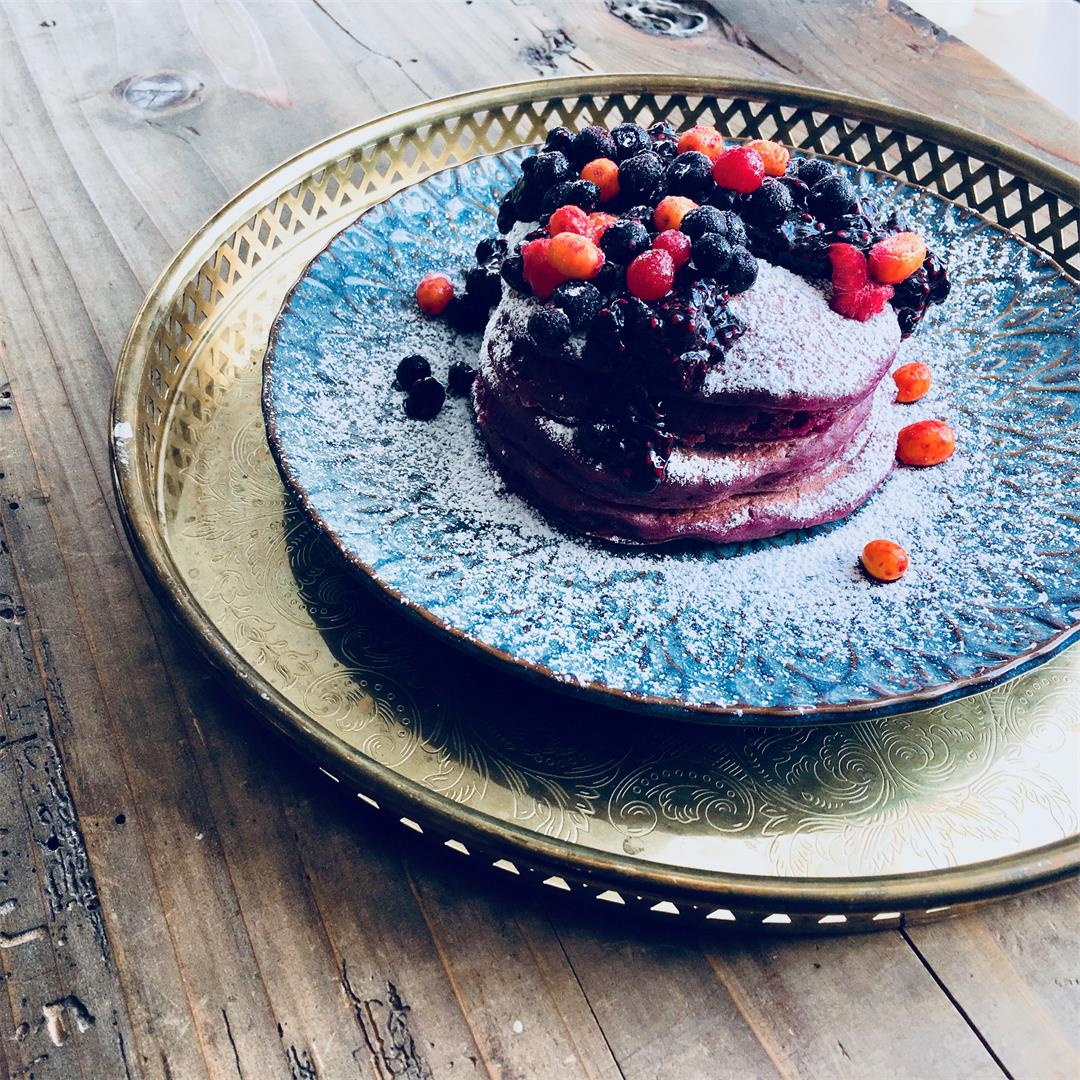 Fluffy American Beetroot Pancakes