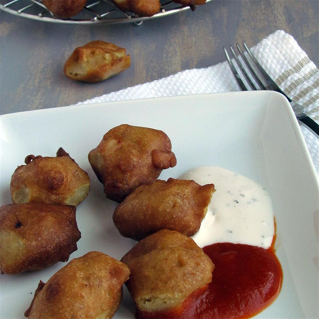 Banana fritters, Indian style