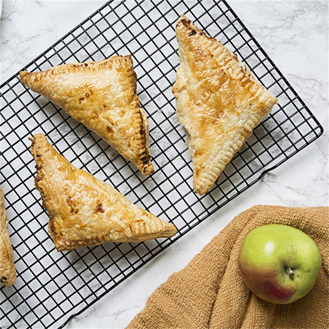 Apple turnovers made with spiced apples