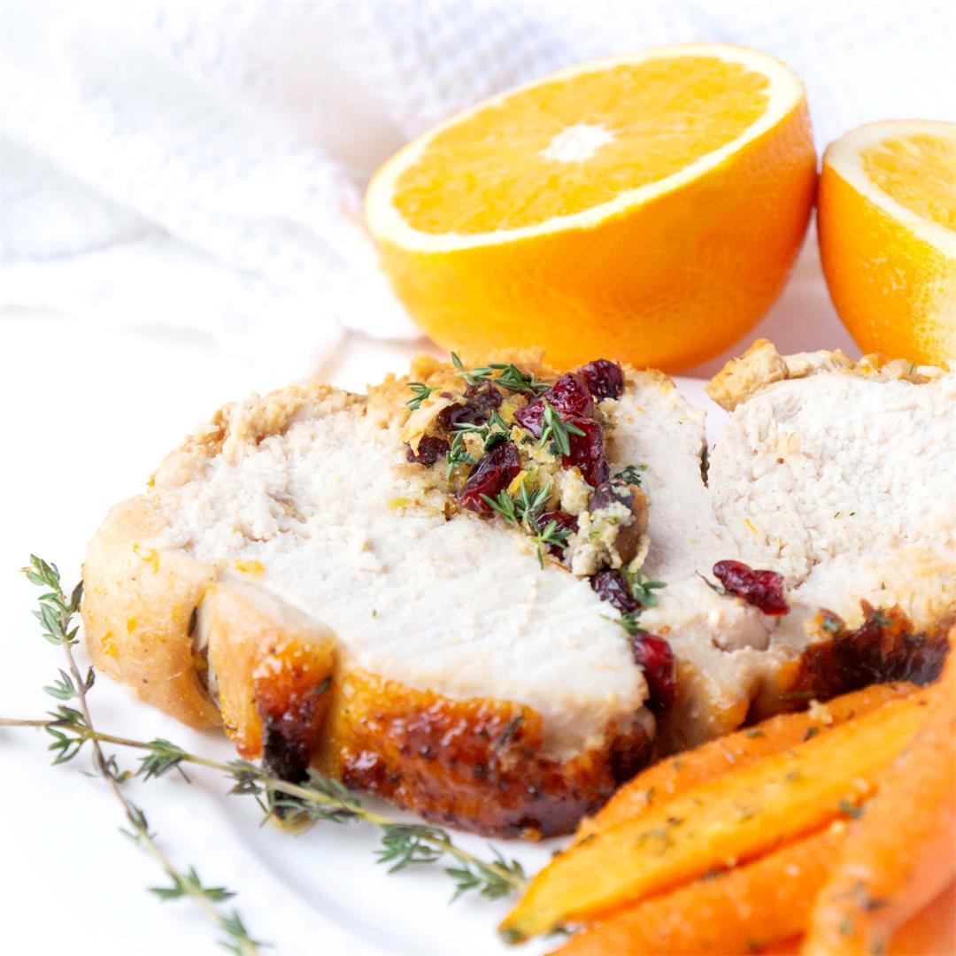 Cranberry Pistachio Stuffed Turkey with a Honey Orange Glaze