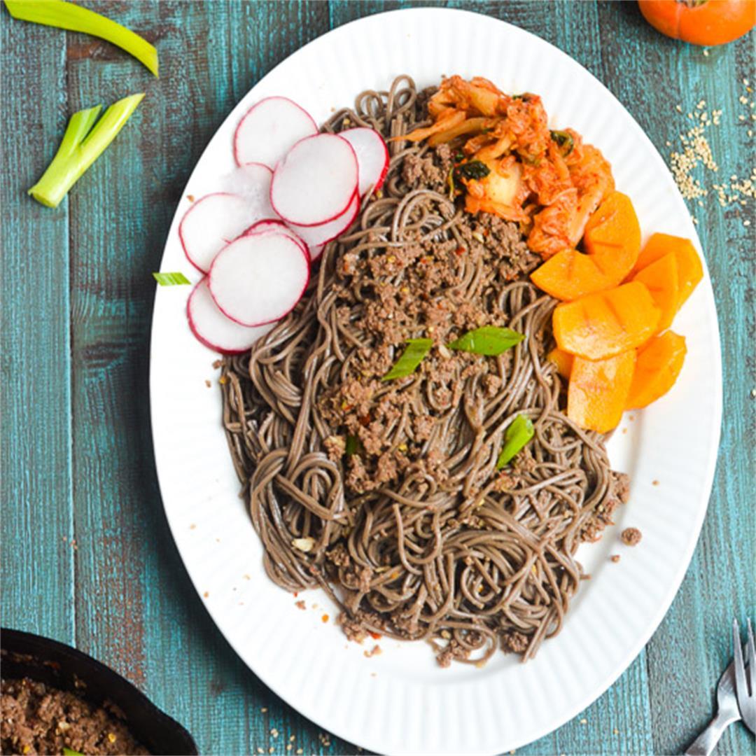 Korean Beef Soba Noodle Bowl