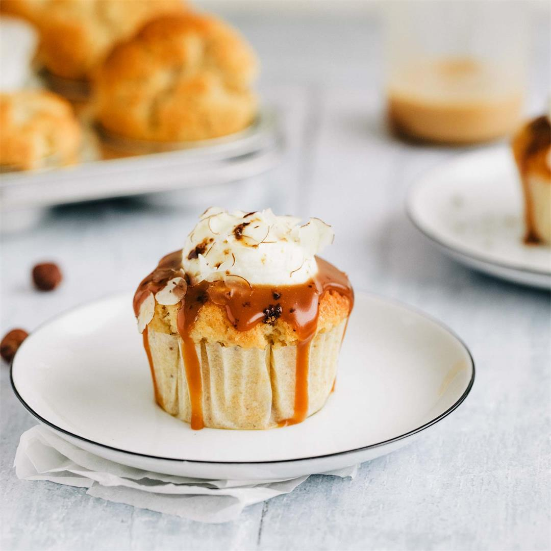 Apple Pie Cupcakes with Salted Caramel