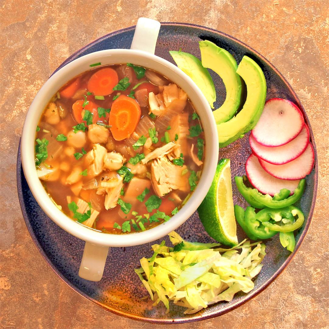 Green Chile Chicken Pozole