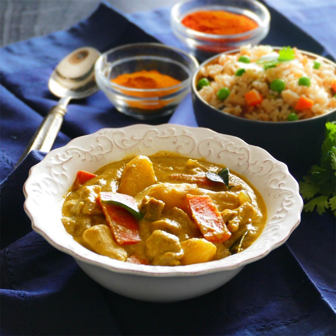 Instant Pot Thai Yellow Curry with Chicken