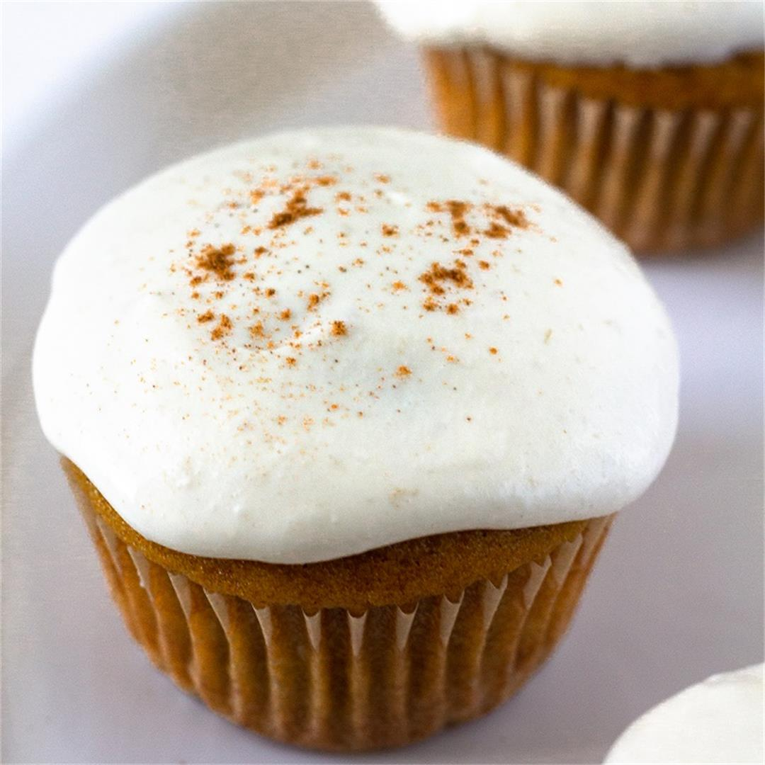 Pumpkin Banana Cupcakes with Cream Cheese Frosting