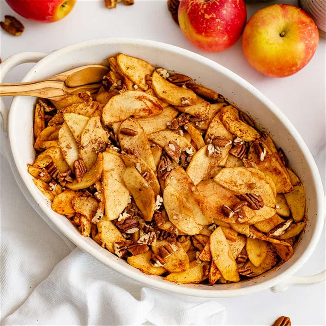 Healthy Baked Sliced Apples