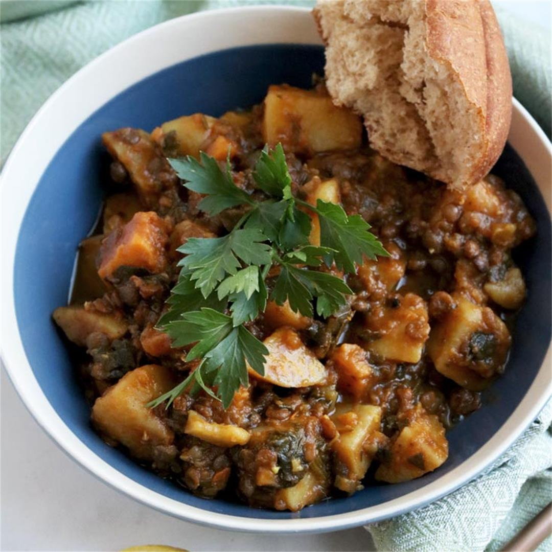 Beef-less Stew Made With Lentils