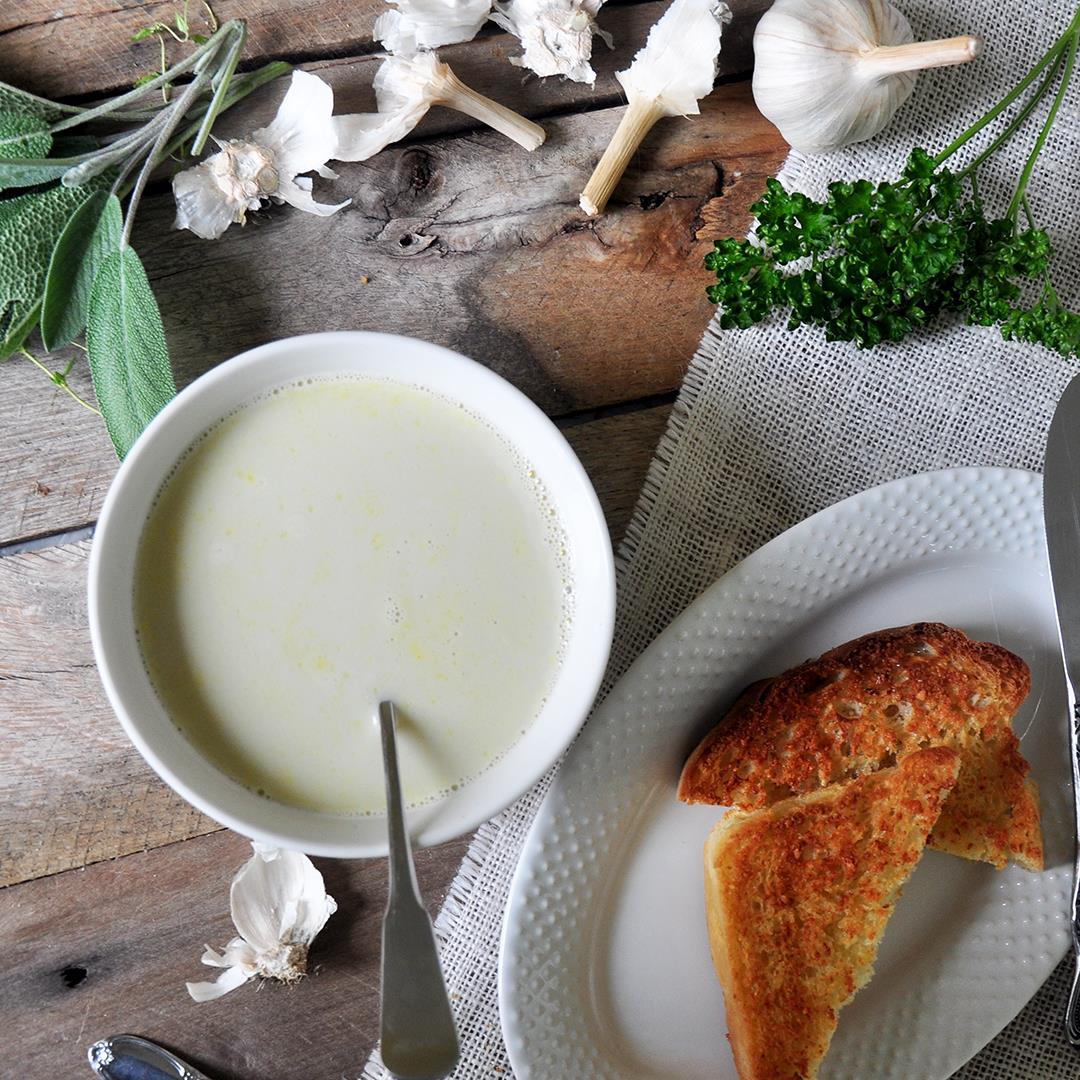 Julia Child's Garlic Soup