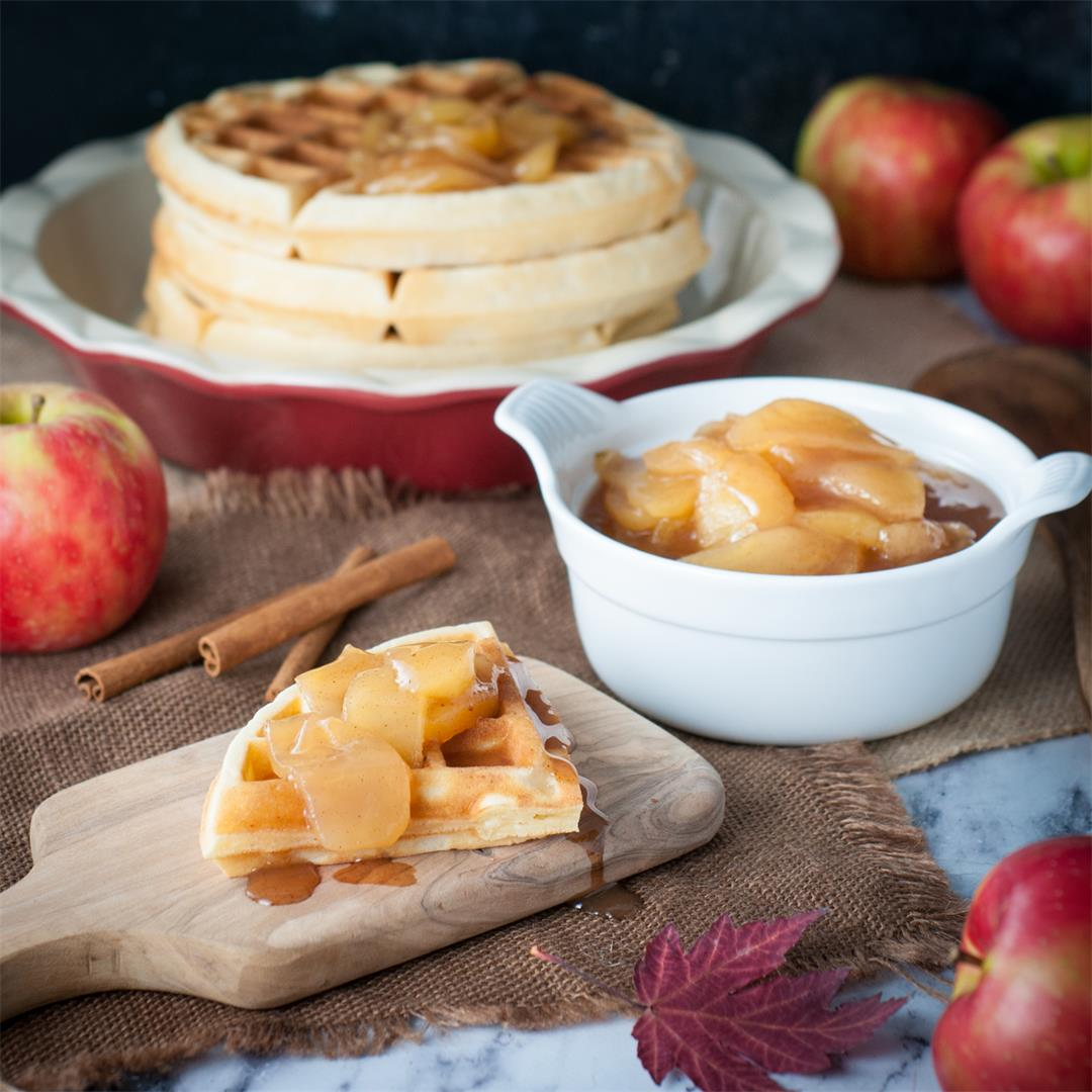 Apple Pie Compote for Waffles, Pancakes and More!