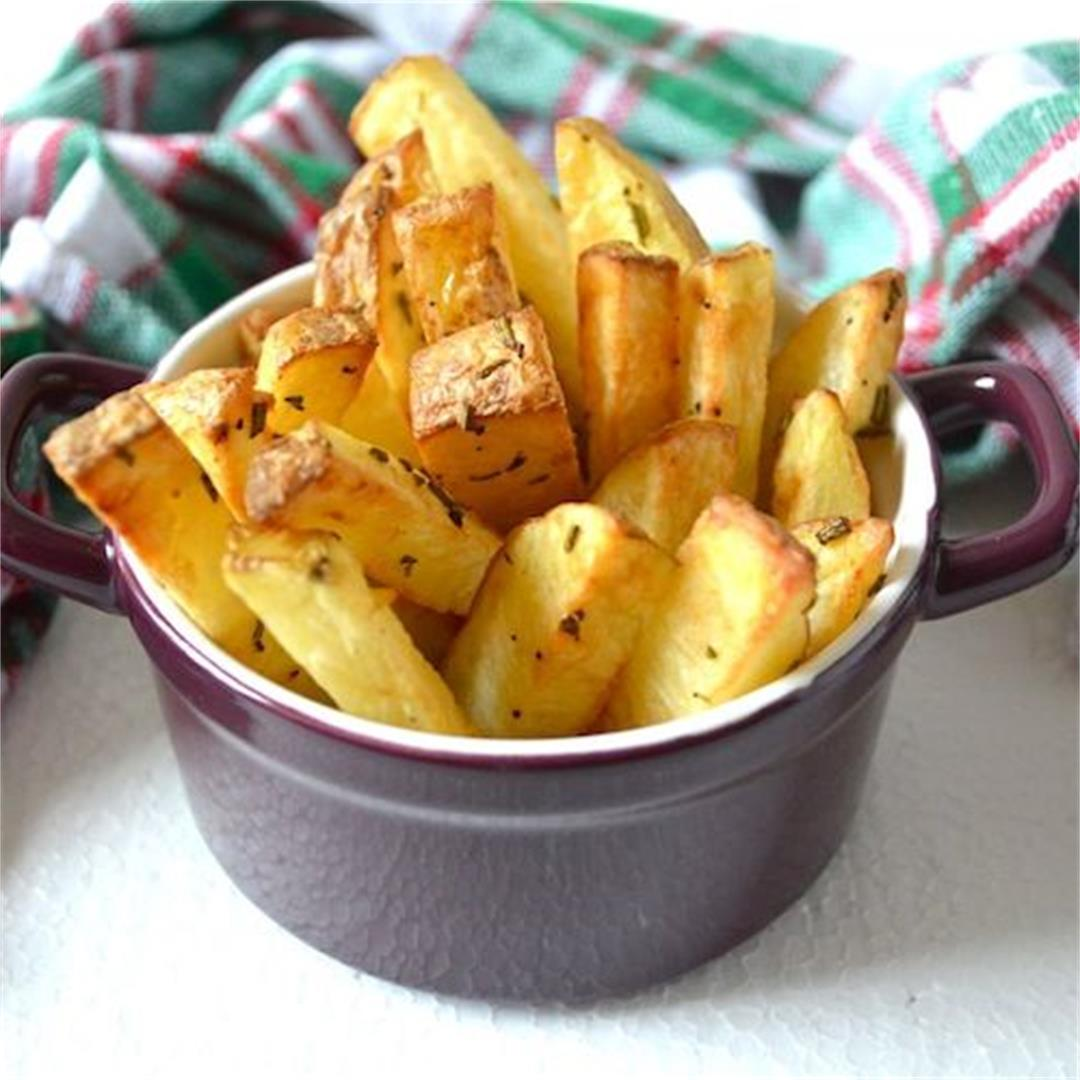 Air Fried Rosemary Chips