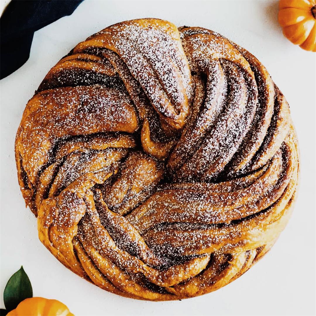 Pumpkin Brown Sugar Babka
