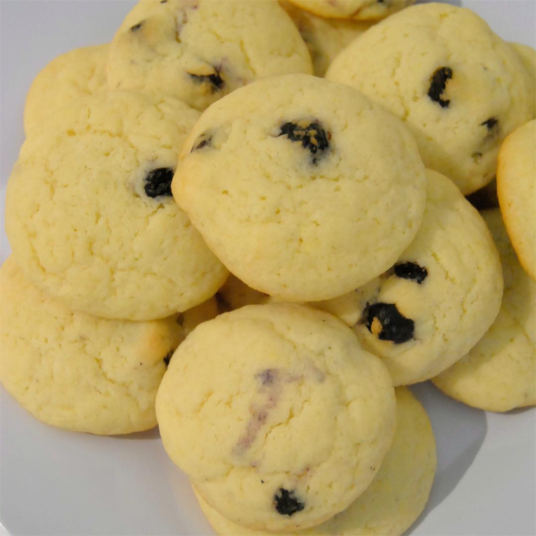 Lemon Blueberry Sugar Cookies
