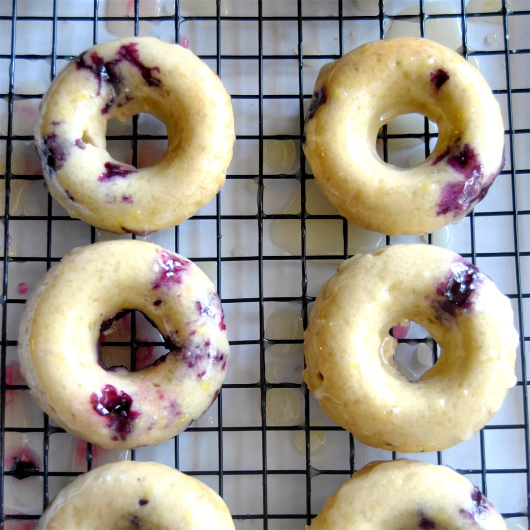 Lemon Blueberry Cake Donuts
