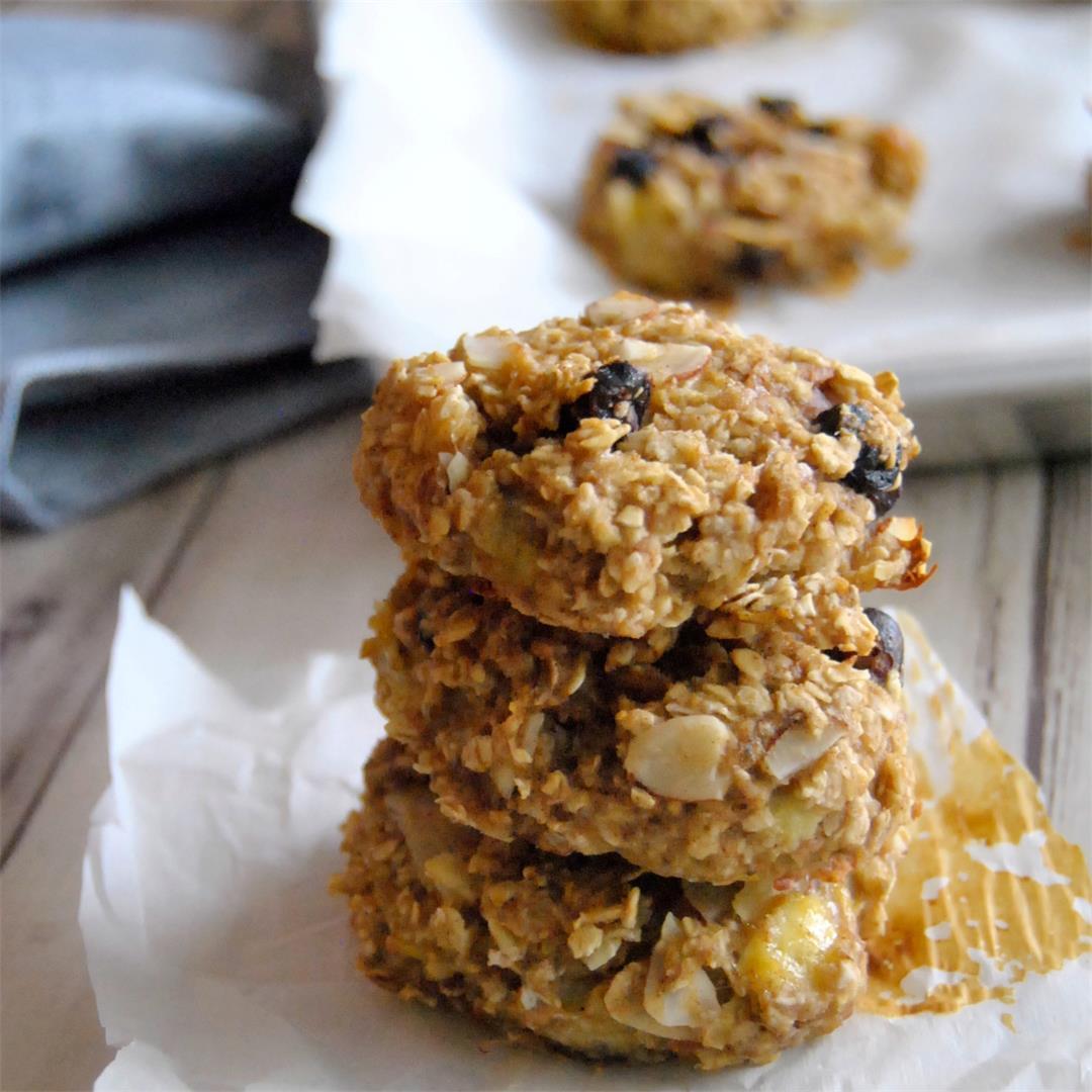 Blueberry Banana Breakfast Cookies