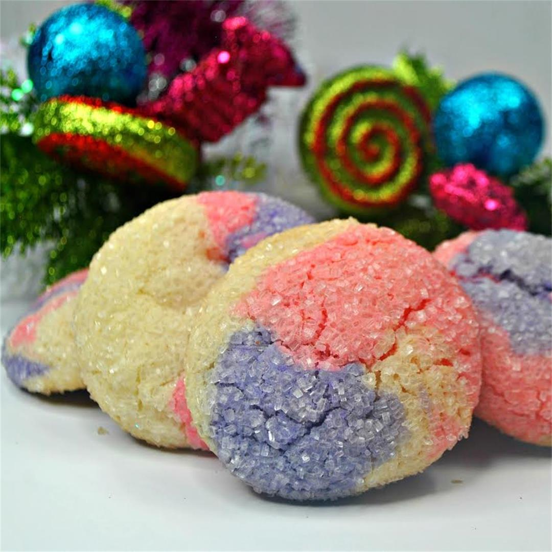 Sugar Plum Sparkle Cookies