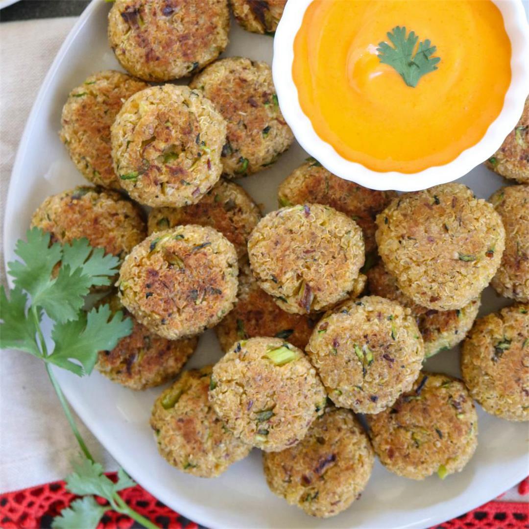 Baked Quinoa Zucchini Bites