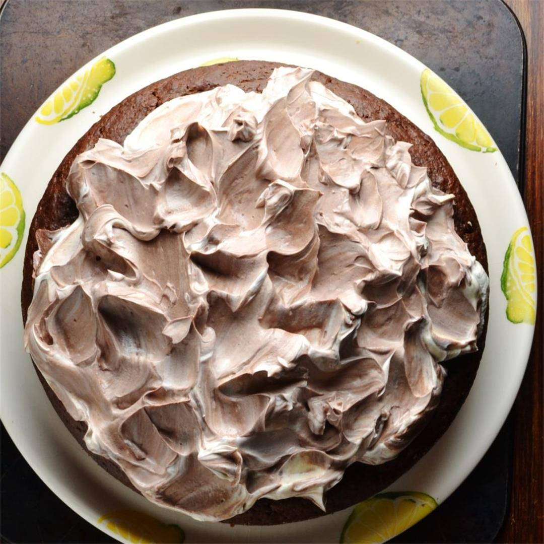 Healthy Chocolate Buttermilk Banana Cake