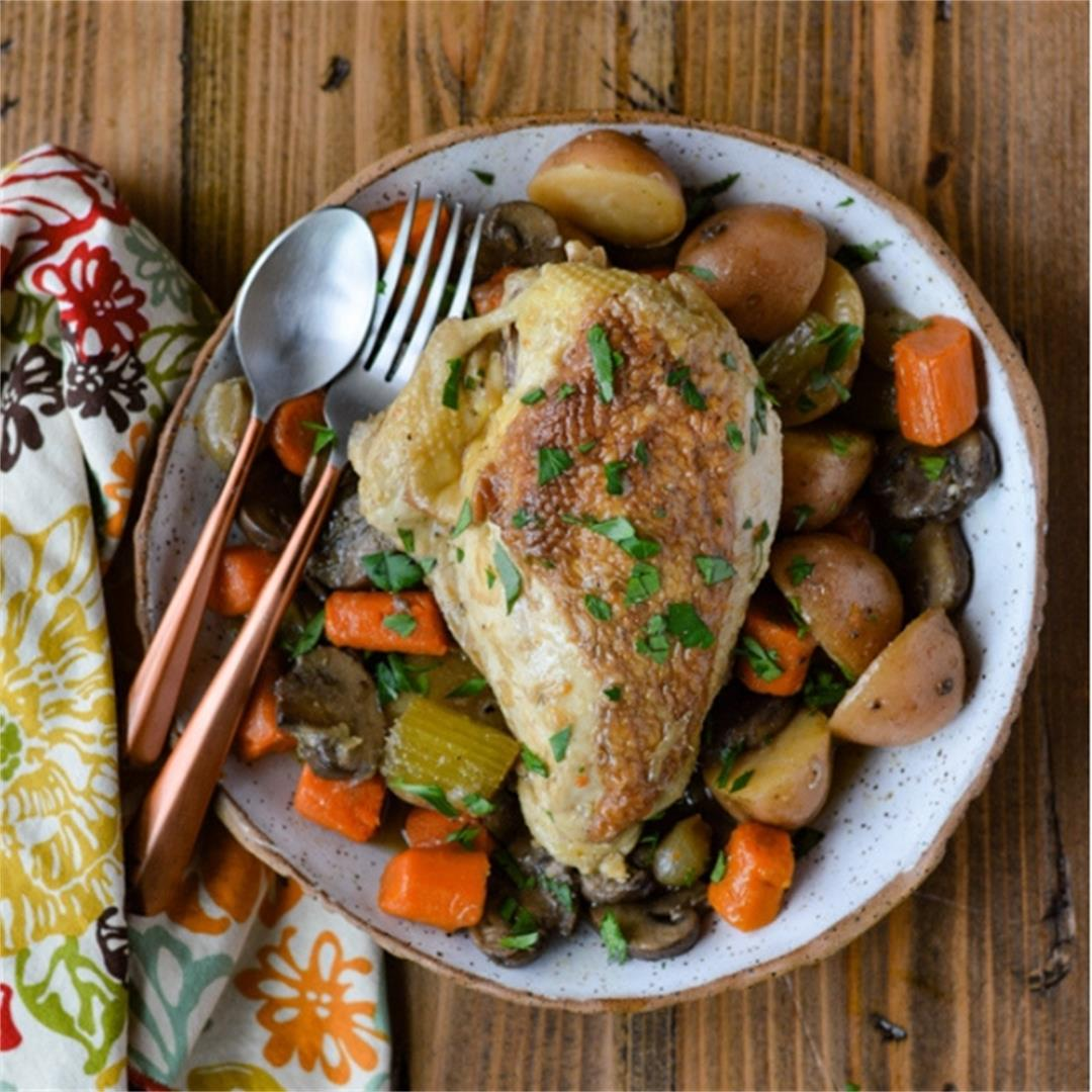 Chicken in White Wine Sauce with Vegetables