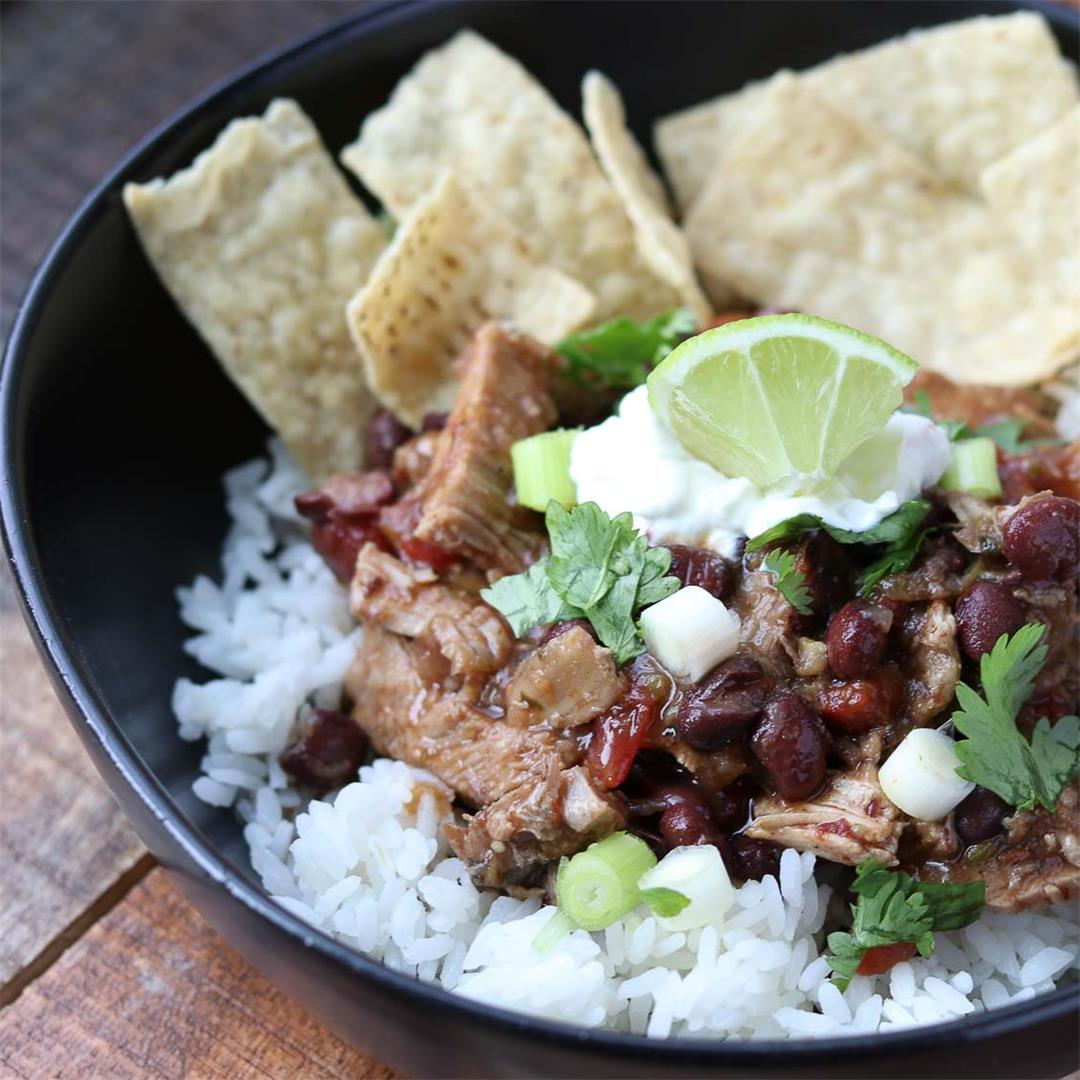 Quick and Easy Healthy Cilantro Pork Pot-Instant Pot/SlowCooker