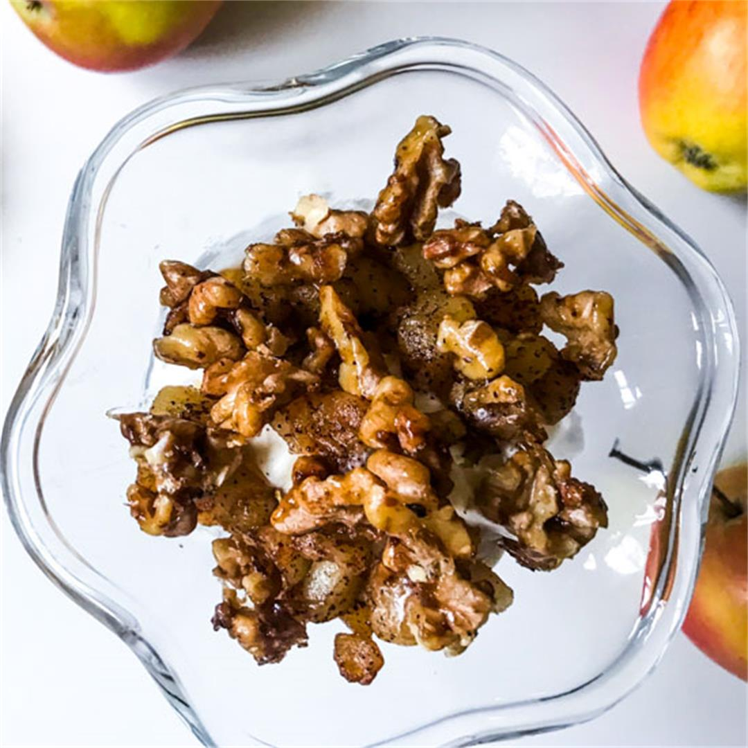 Buttered Cinnamon Apples & Salty Candied Walnuts