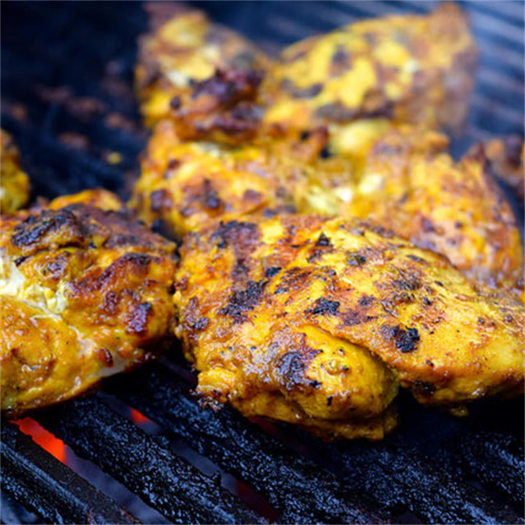 Barbecue Turmeric Chicken Thighs