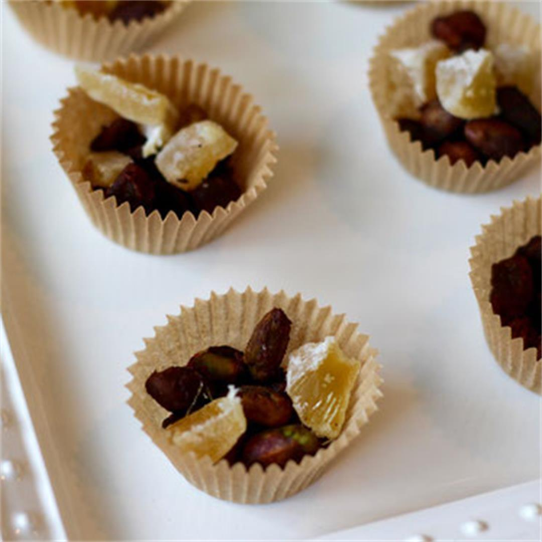 Candied Pistachio Ginger Cups