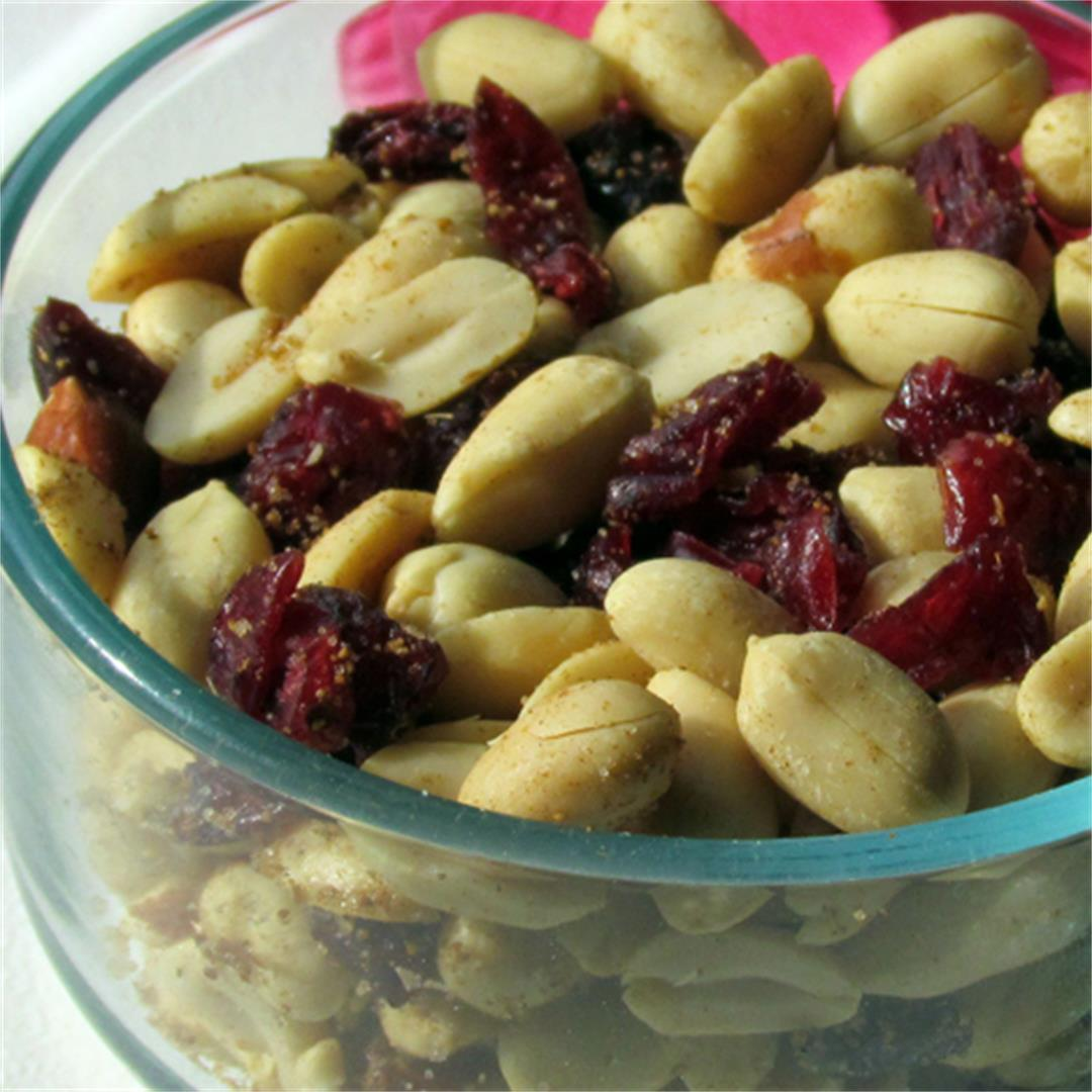 Baked Peanuts with cranberries