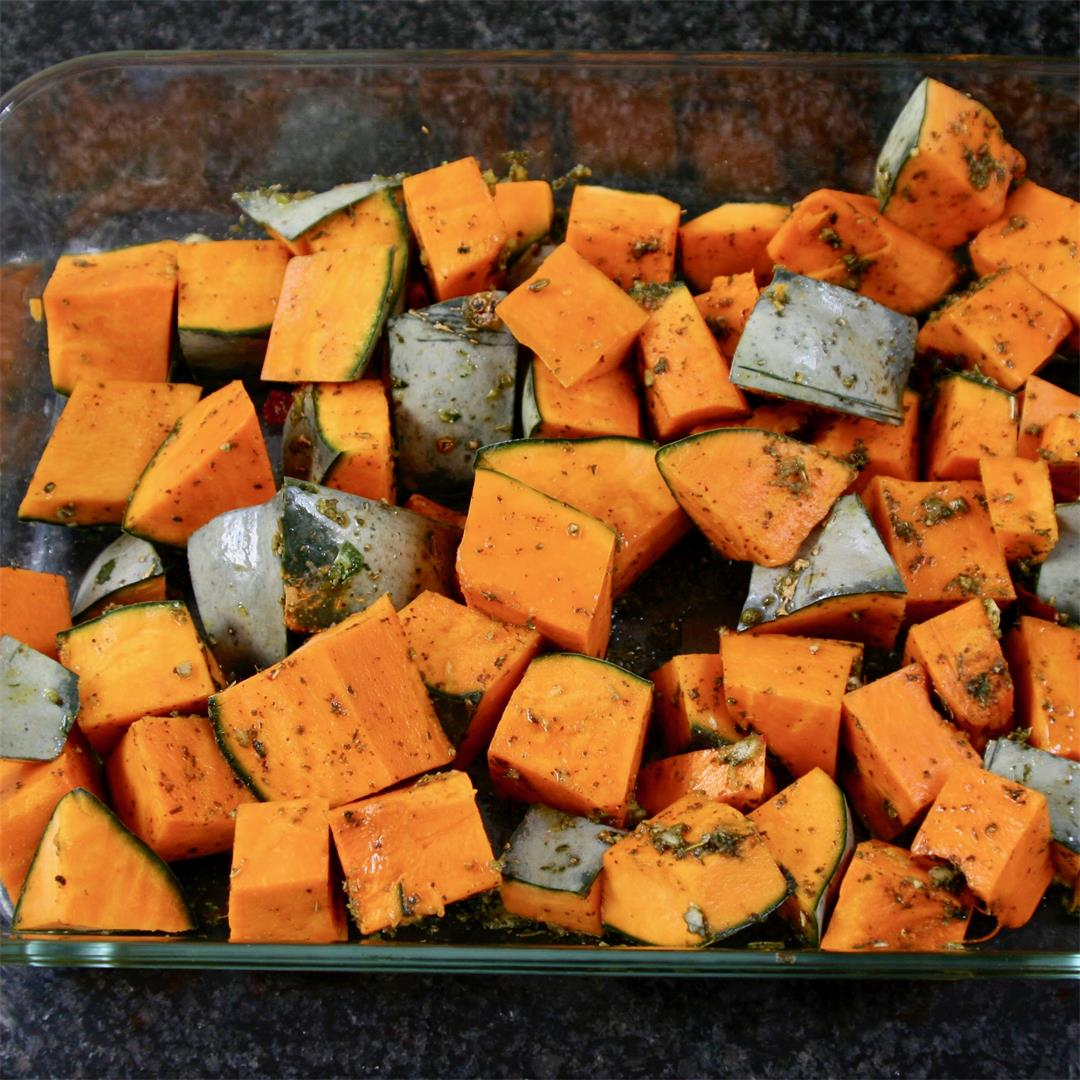 spicy roasted pumpkin
