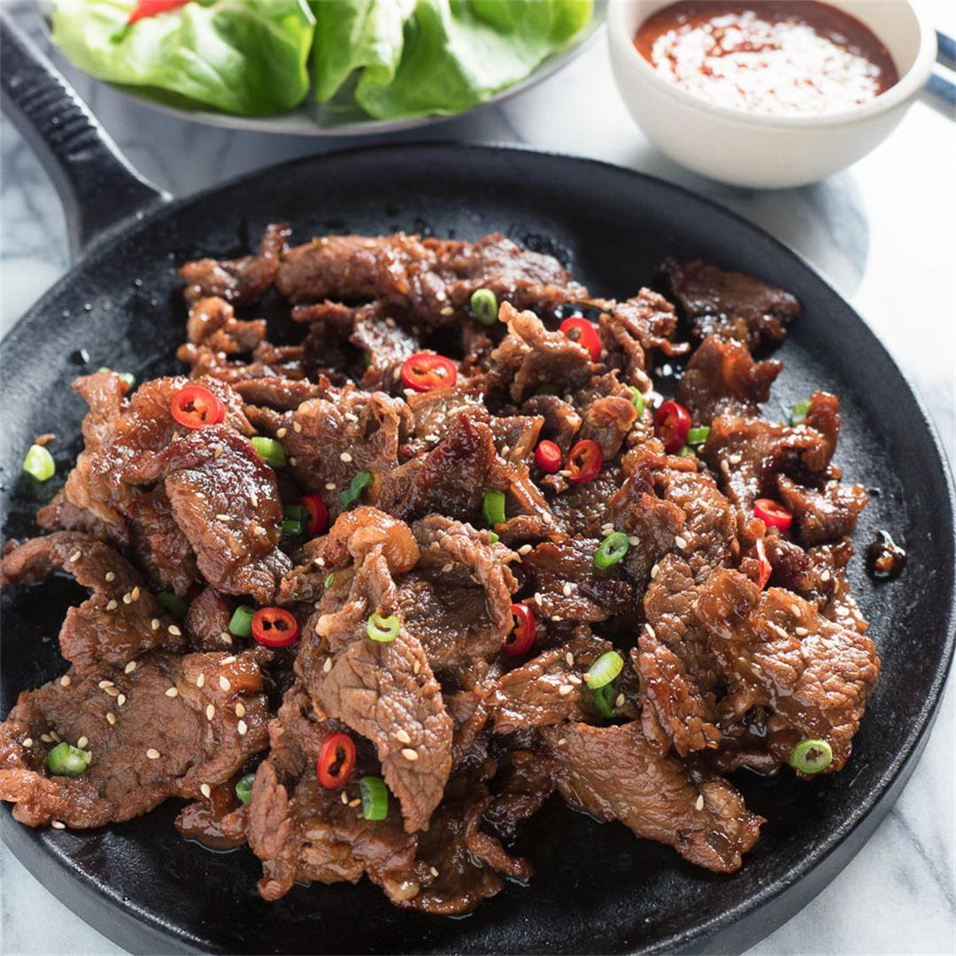 easy delicious korean beef bulgogi