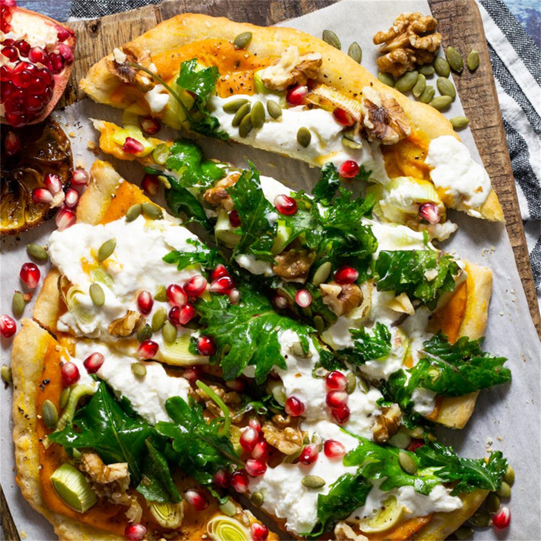 Fall Harvest Vegetarian Pizza